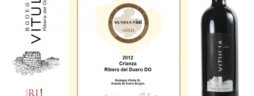 Vitulia Crianza 2012 - Medalla de Oro Mundus Vini 2016